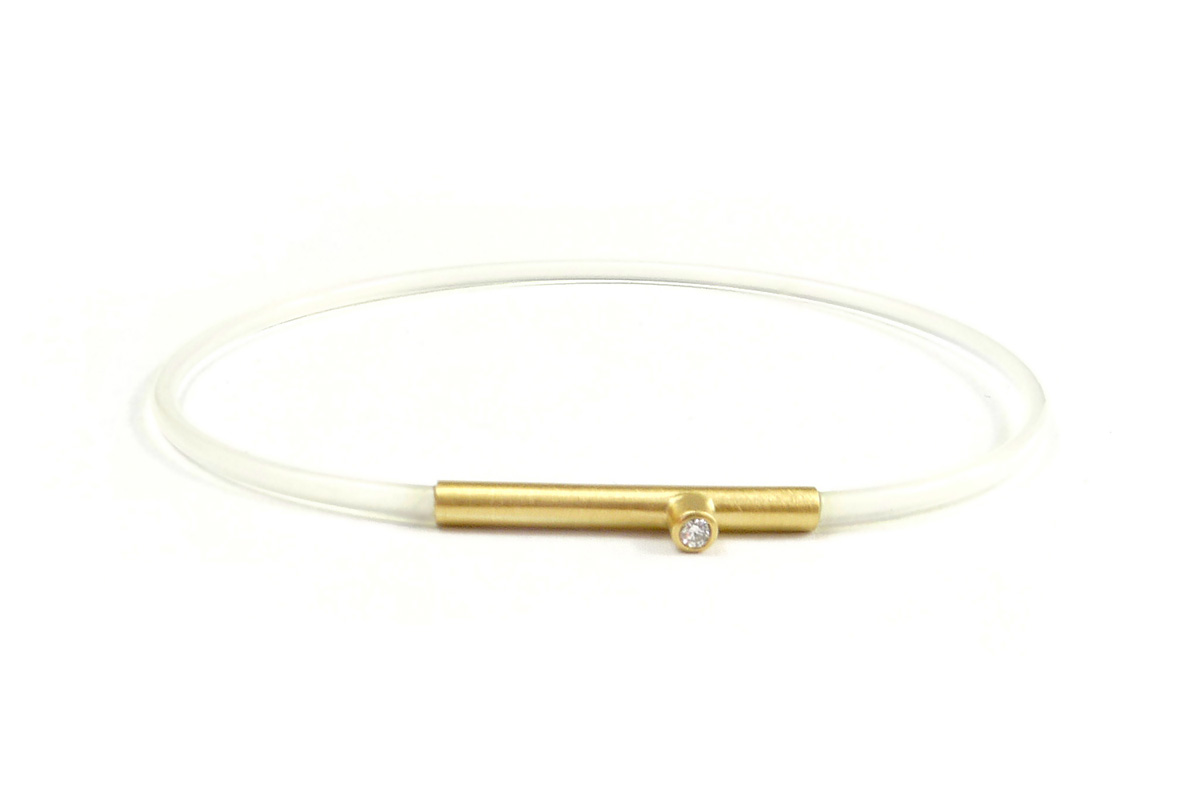 Bracelet_Tube.Nylon_Diamond.0,03ct_YG.750°°°_1