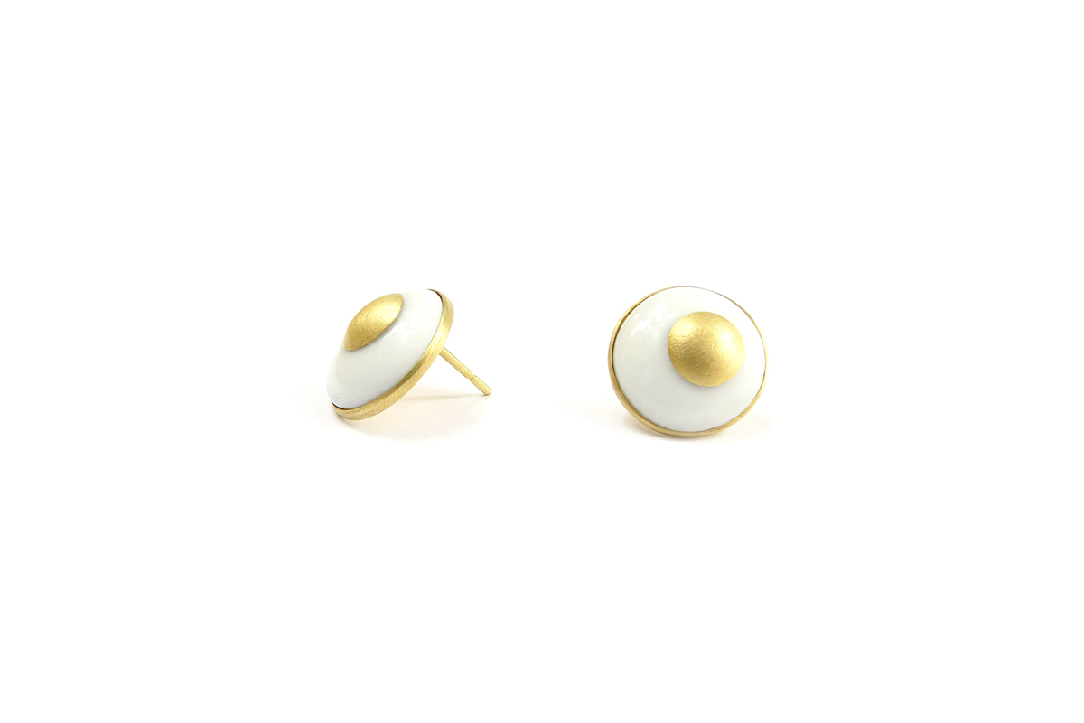 Earring_Voltage_Porcelain_YG.750°°°