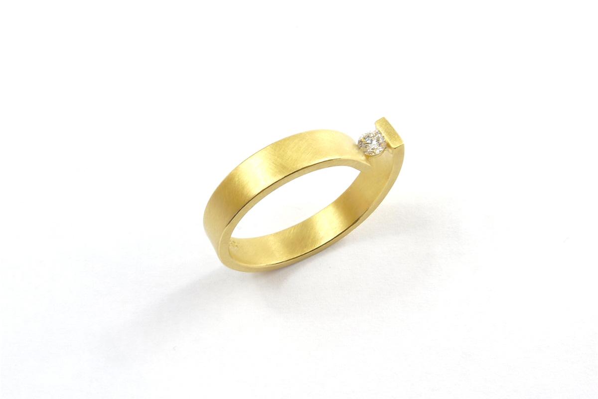 Ring_Looping_Diamond.0.12ct_YG.750°°°_1