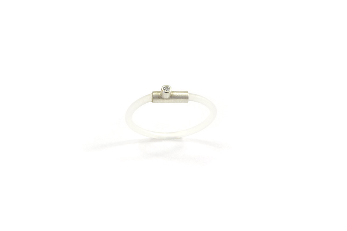 Ring_Tube.Nylon_Diamond.0.015ct_Silver.925°°°_1